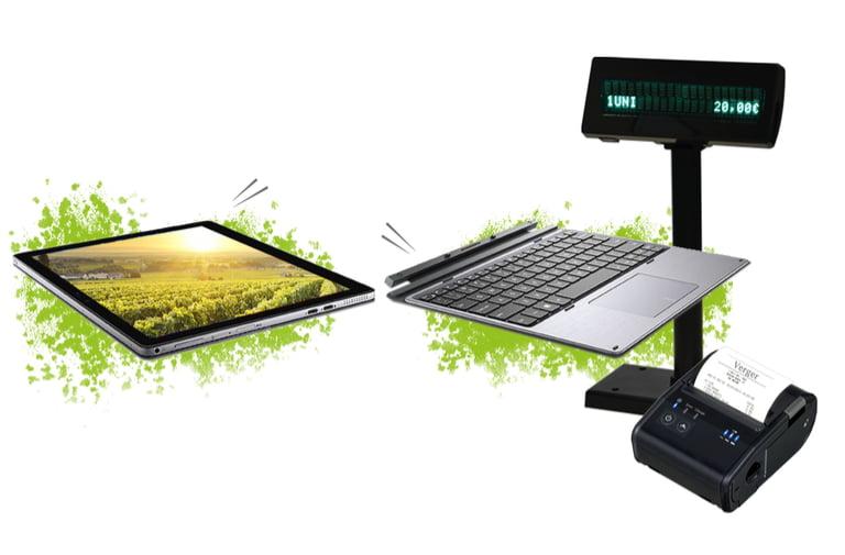 TPV Slate permet de séparer le clavier de l'écran pour plus de confort