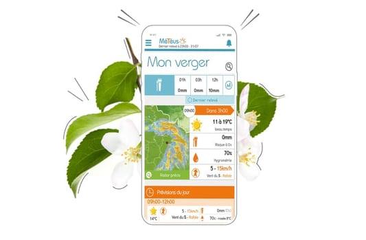 Je réponds aux défis environnementaux de l'arboriculteur et du maraîcher grâce à la solution météo Météus