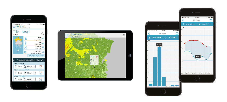 l'application météus est disponible sur une vaste gamme de smartphones