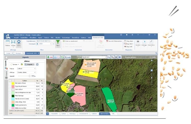 Avec la solution Geofolia sur mon Smartphone ou mon PC, mes travaux agricoles sont conformes à la réglementation